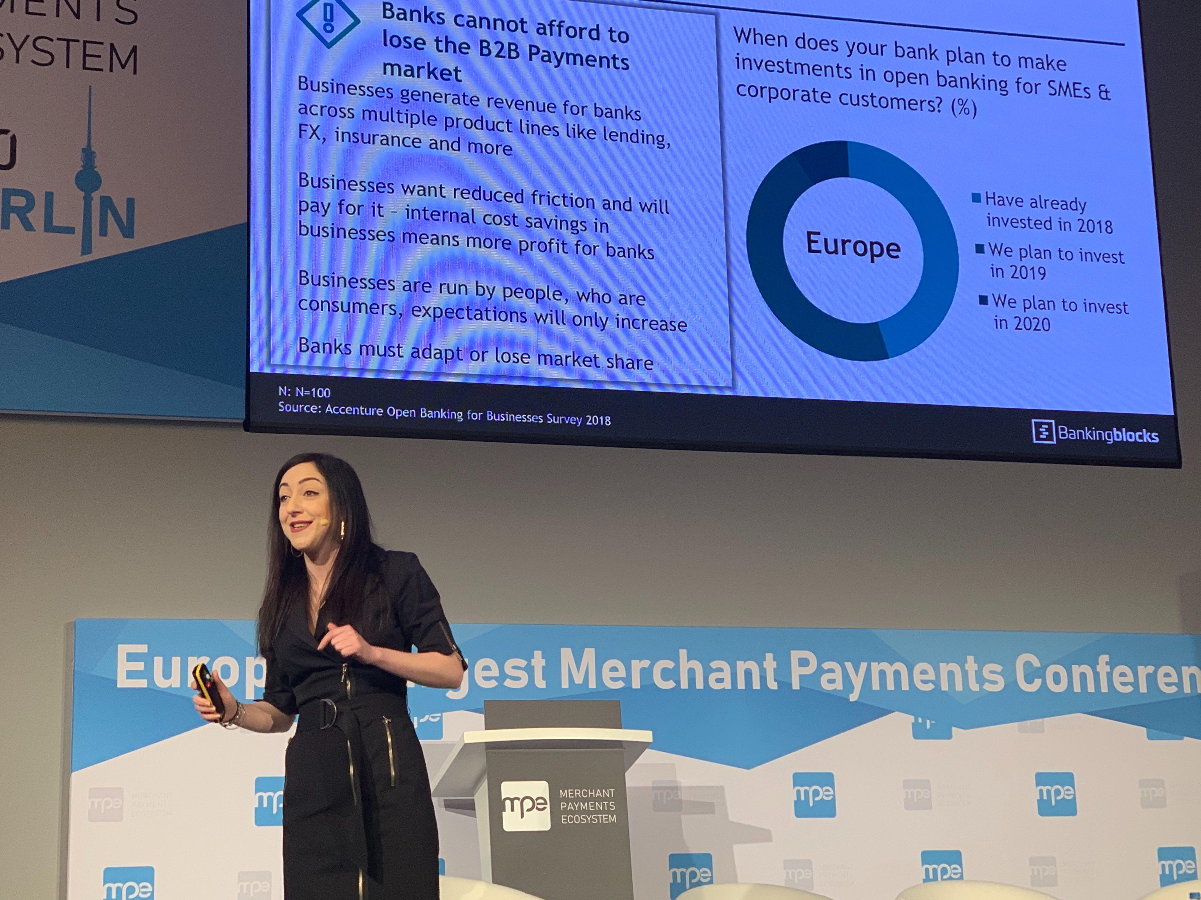 Daria Rippingale Bankingblocks CEO at MPE 2020